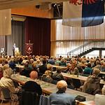 In der Karlsruher Badnerlandhalle während der Ansprache von Bernd Fabritius
