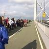 People lining the ForthRoad Bridge for #hoof demo against #ucg #fracking