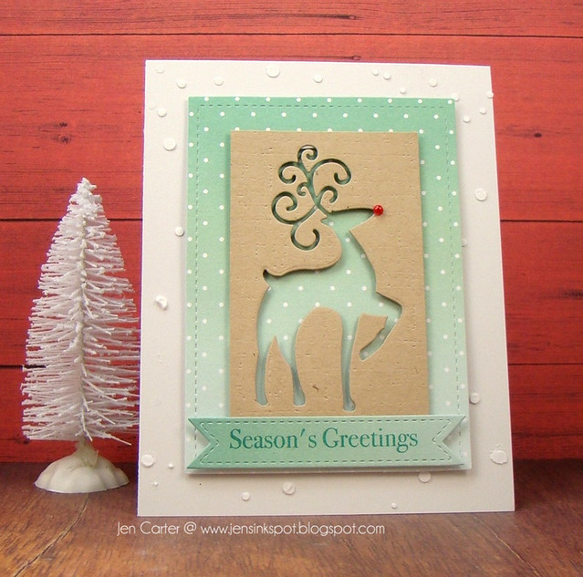Jen Carter Fancy Deer Seasons Greetings Front