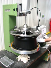 Installing Stainless Steel rim protector @ BBS in Germany