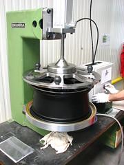 Installing Stainless Steel rim protector @ BBS in Germany