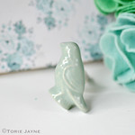 Bird Ceramic Door Knob Mint Green