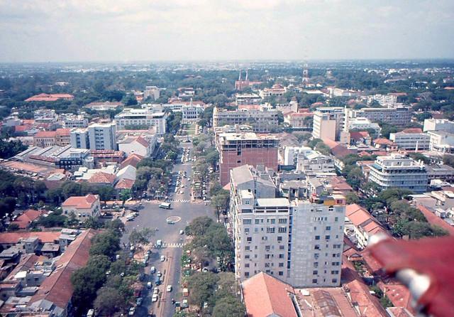 Saigon Aerial View 1965-66 - Nguyen Hue Blvd