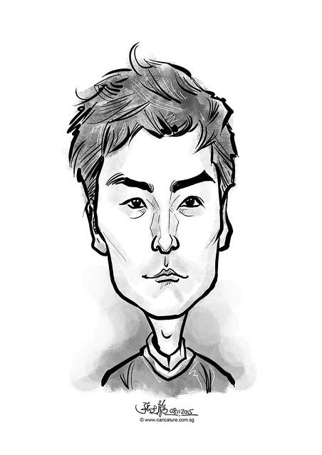 digital caricature for eBay - Hwang, Hyun Min
