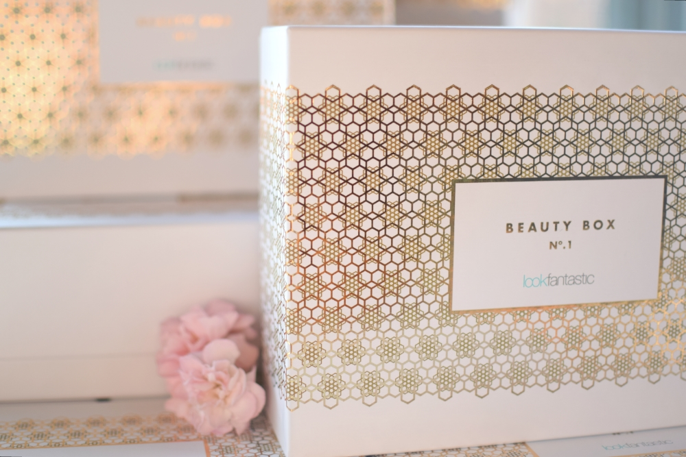 Lookfantastic Beauty Box Limited Edition Gold and white