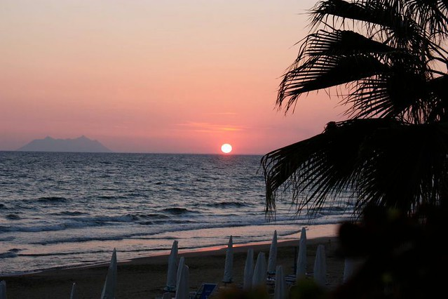 Sperlonga beach: a beautiful sunset over Sperlonga Italy