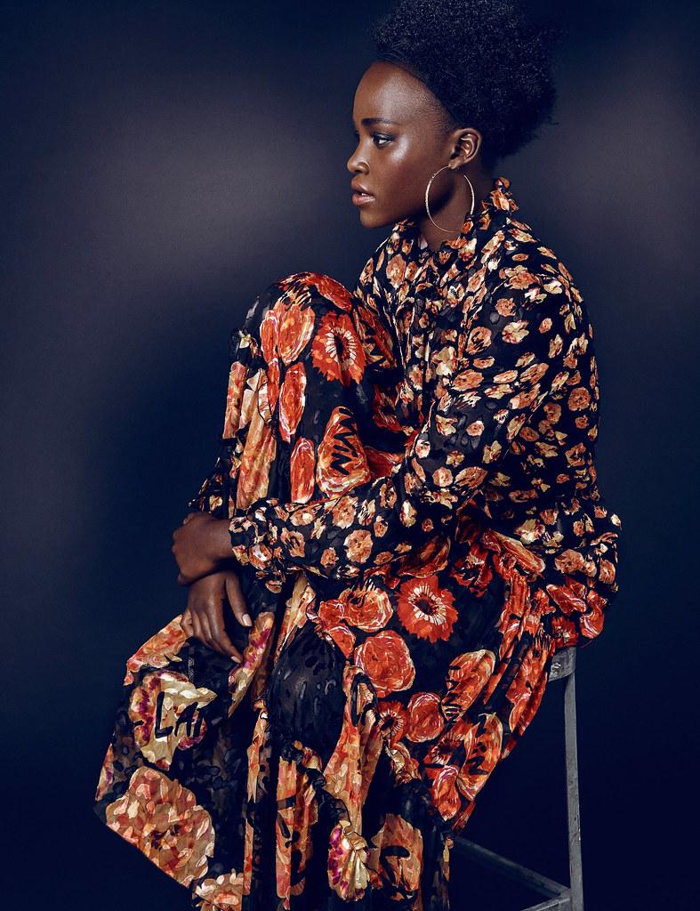 Люпита Нионго — Фотосессия для «Elle» UK 2015 – 4