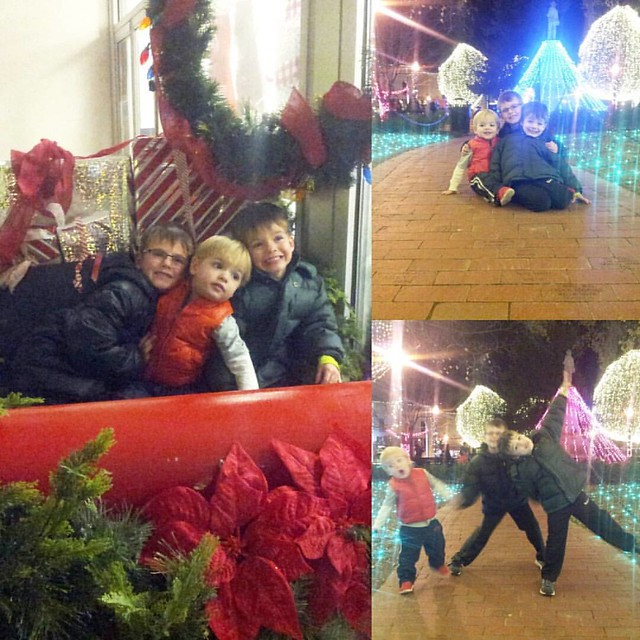 Impromptu night on the square to see the lights. #mboys2015
