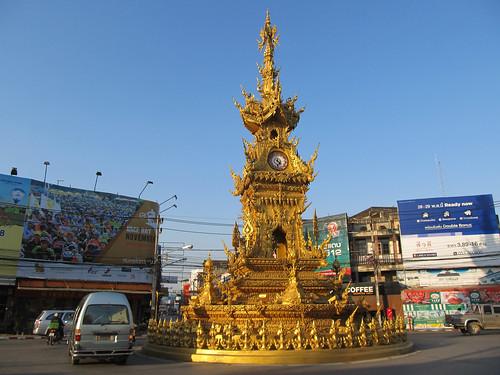 Chiang Rai: l'horloge kitsch
