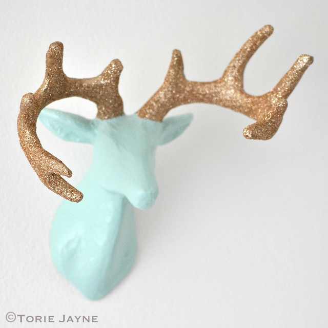 DIY glittered antler deer tutorial 2