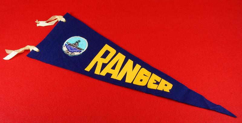 RD15149 Vintage USS Ranger CVA-61 Pennant DSC08478