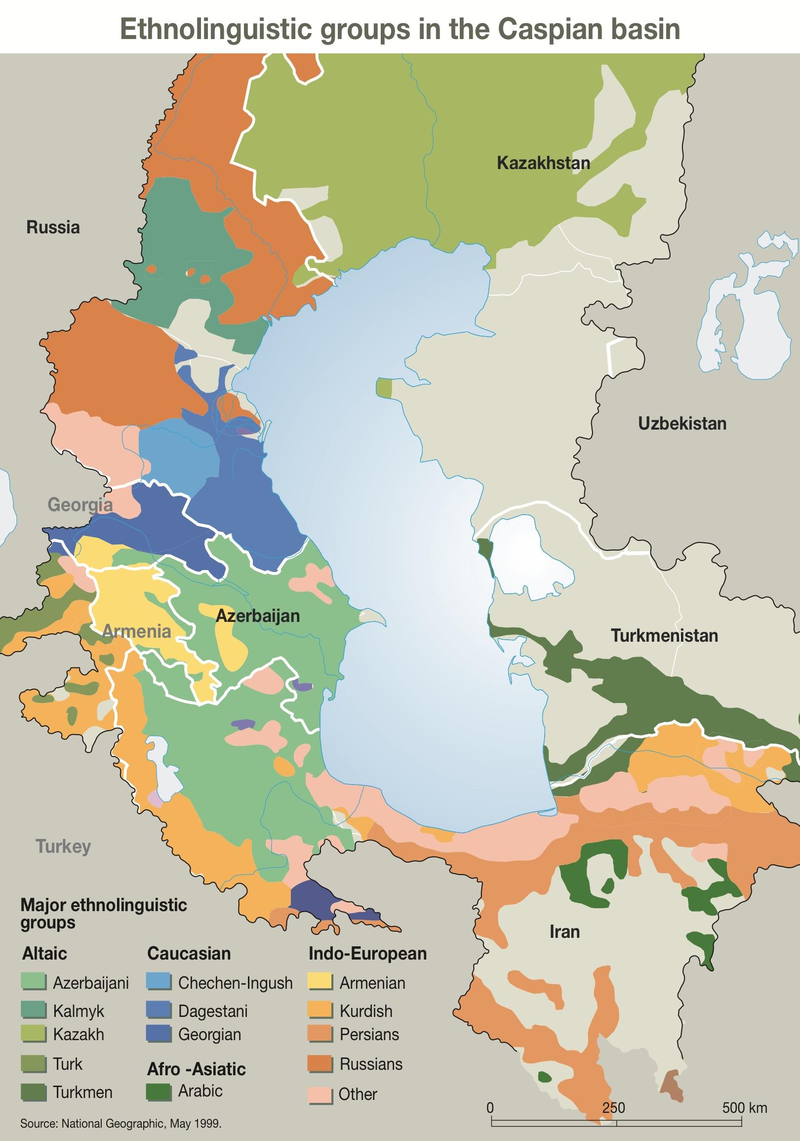 ethnolinguistic groups in the caspian basin