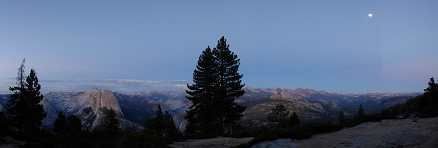 Moonlit view from Sentinel Dome