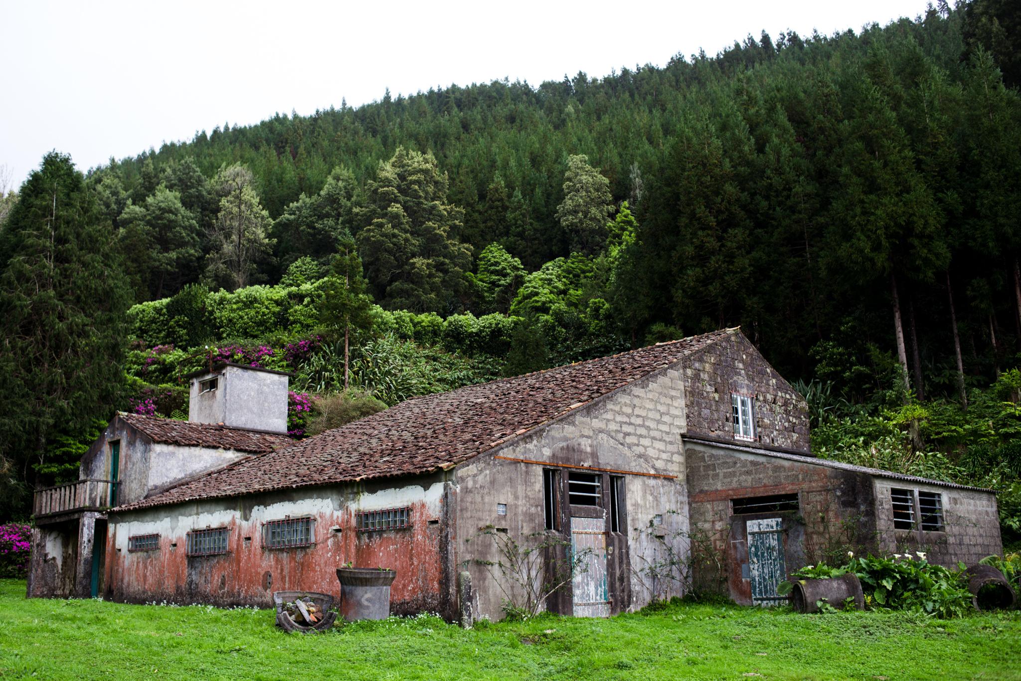 Házikó útközben Lagoa de Fogo felé