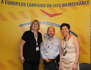 Brenda OBrien, Mr Karoly Gyorgy Chair EU-OSHA, Marijo Urkidi (ETUC Athens 2011)