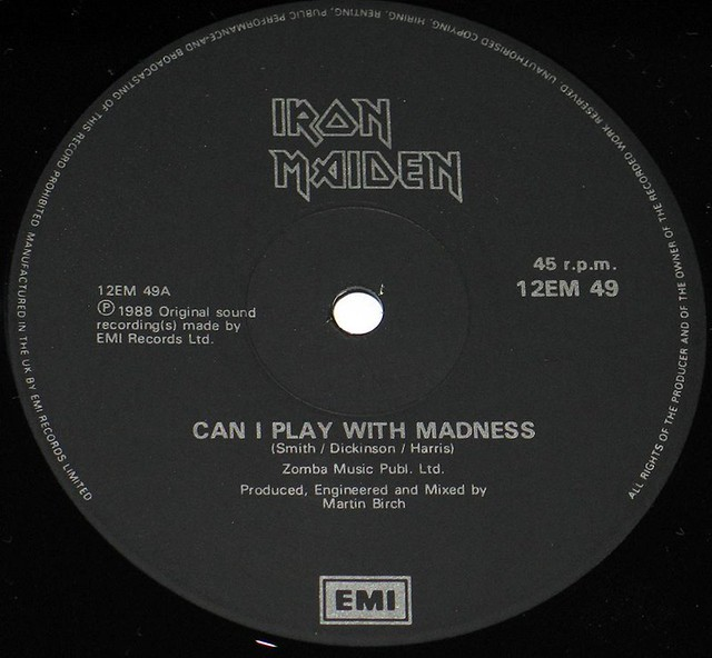 IRON MAIDEN Can I Play with Madness England MLP UK Black Label