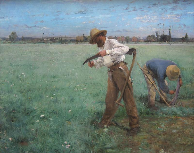 Jules Bastien-Lepage, Sharpening the Scythe, 1881, Dallas Museum of Art