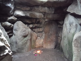 West Kennett Long Barrow, inside the Chamber