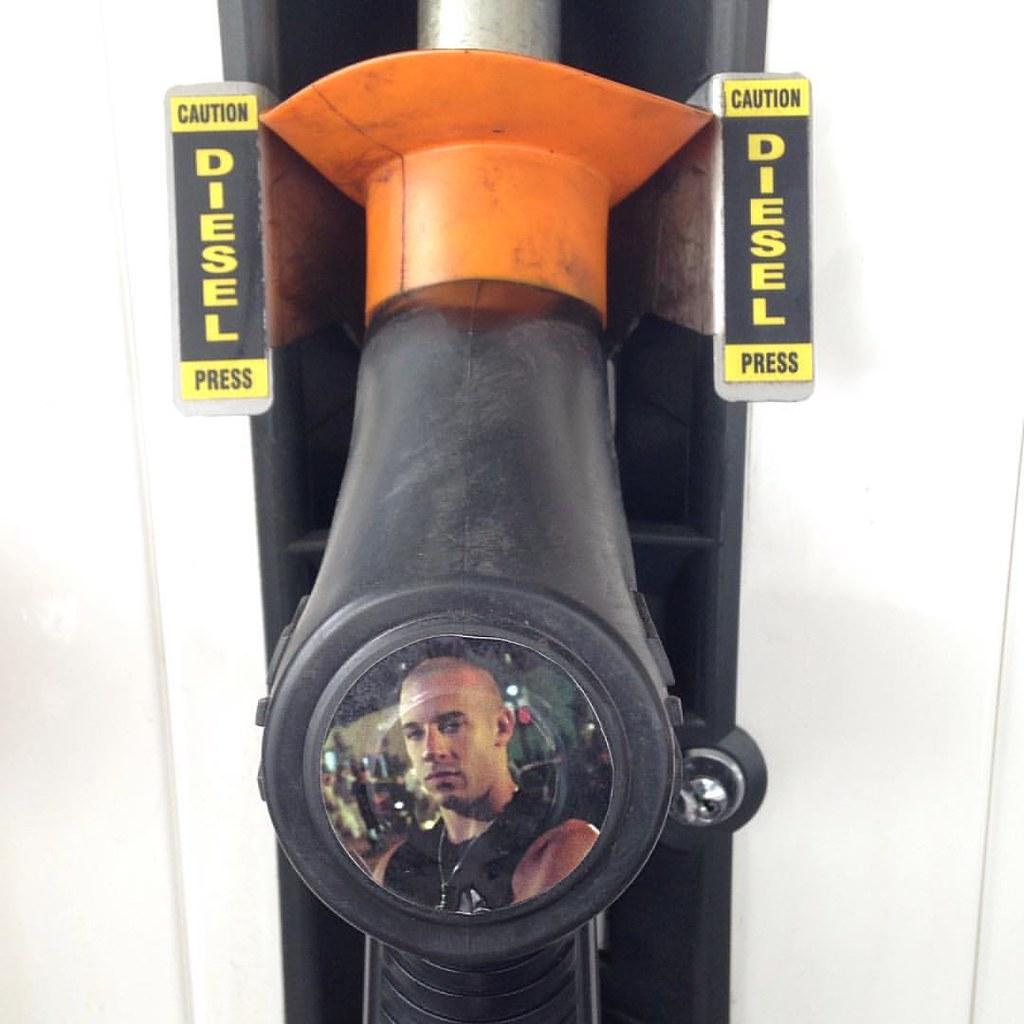 Pump no.7 at Woolworths petrol in Ferntree Gully made me burst out laughing. #petrolhead #vindiesel #diesel #fastandfurious