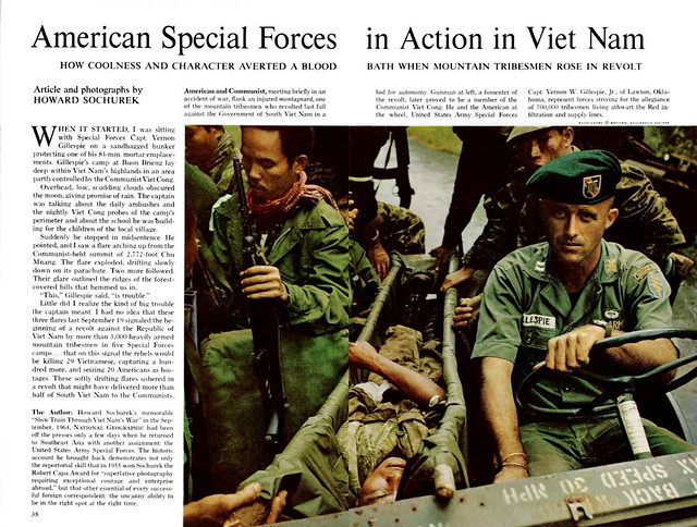NATIONAL GEOGRAPHIC Magazine January 1965 (2) - AMERICANS IN ACTION IN VIETNAM