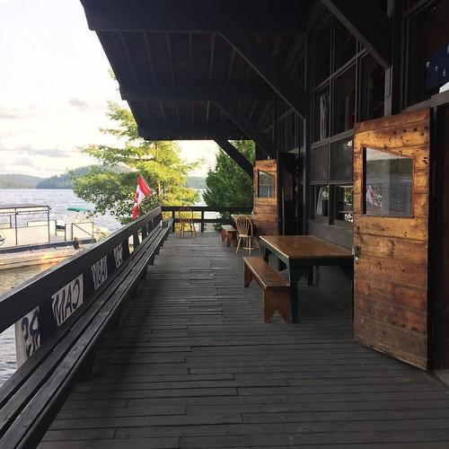 The deck, Camp Wabikon