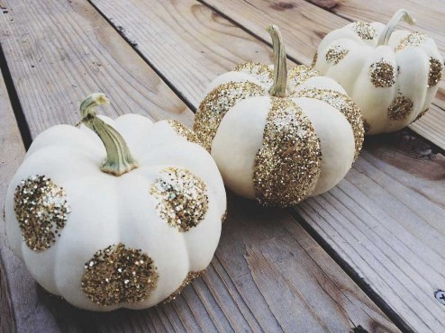 Decorating with White Pumpkins - Small Home Big Start - photo#13
