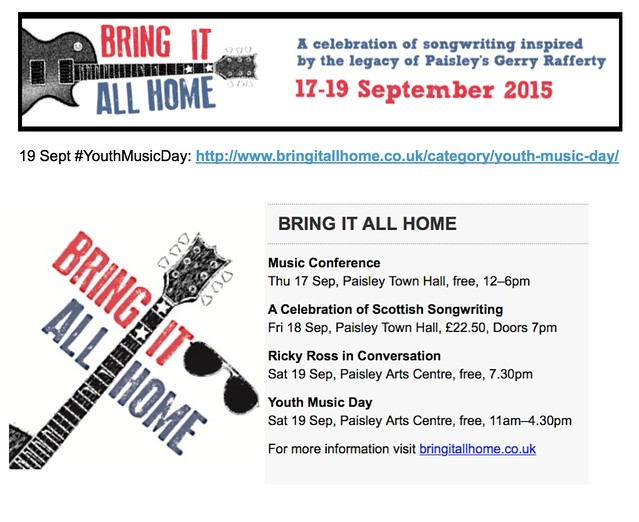 Bring It All Home Festival 2015, Paisley