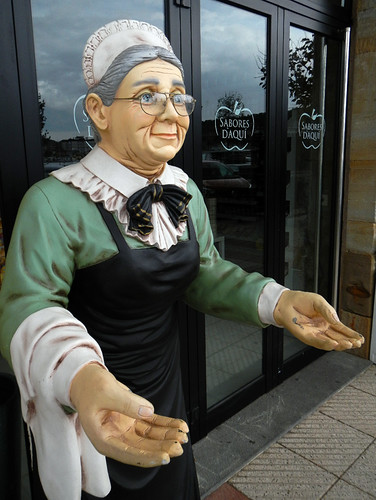 A Bakery Figurine in Ribadesella, Spain