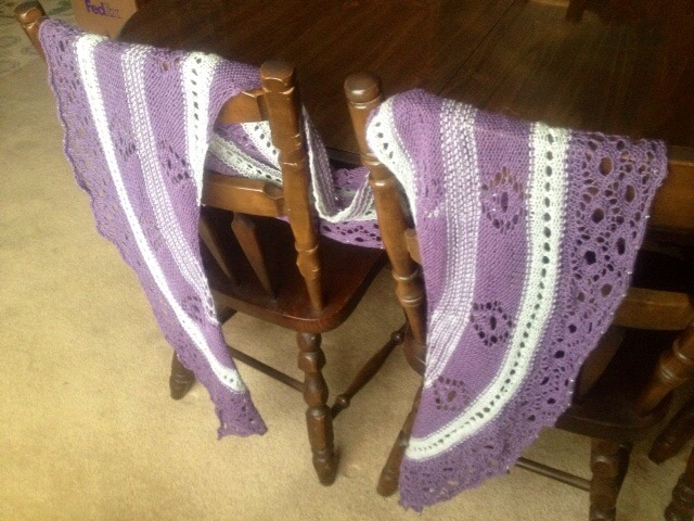Crocheted shawl from Connie Metcalf