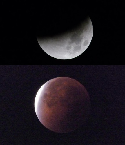 Dos momentos del eclipse...