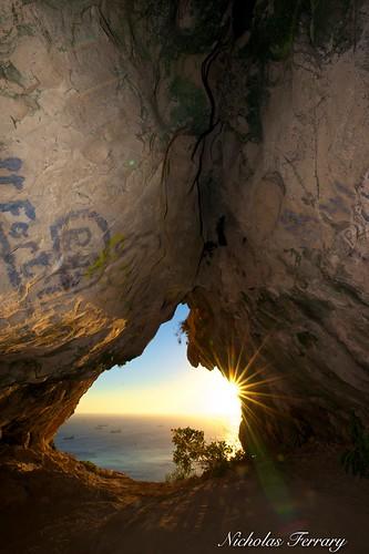 sunset sun sunlight nature sunrise landscape nikon structures caves caving stalagmite stalagtite med gibraltar speleology straitsofgibraltar caveformations d810 medsteps bayofgibraltar nikond810 nikon1424mm28 gibraltarwildlife nicholasferrary goatshaircave d800e nikond800e