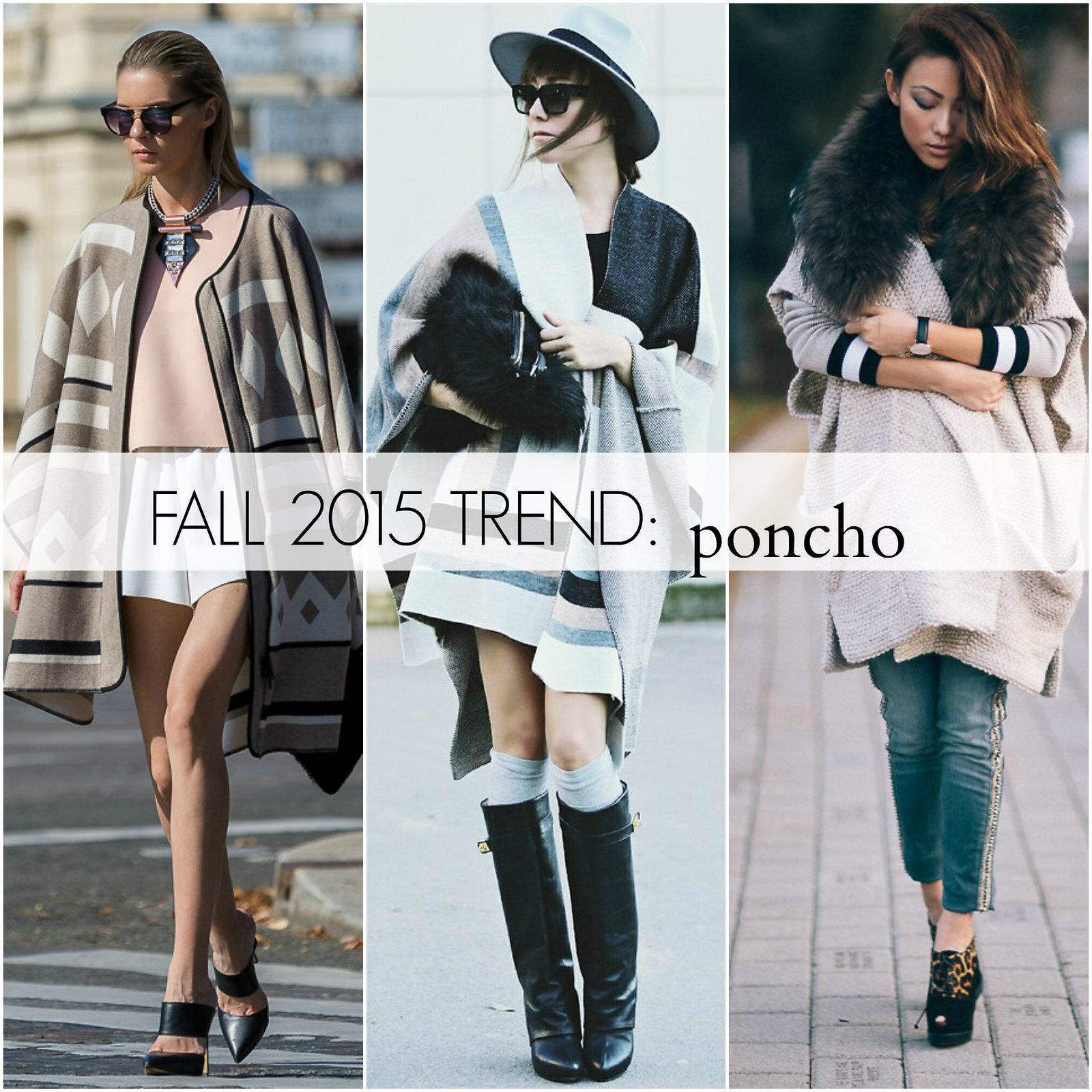 fall 2015 trend: PONCHO