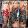 "Tattoo by Enoki Soju --  To see more of my work you can either google my name ""Enoki Soju"" or visit my Artist Page on Facebook at: http://www.facebook.com/enokisojutattoo  -Enoki Soju (Traveling & Independent Artist)  #이누끼소주 #타투 #문신 #enoki #enokisoju #eno"