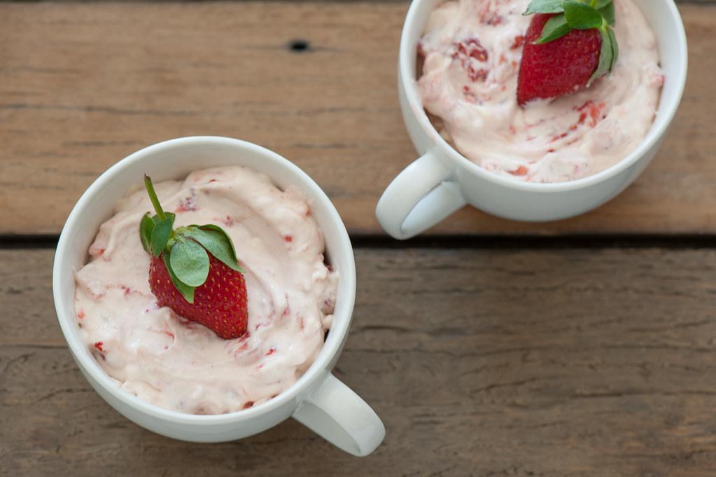 m5. Strawberry Ripple Cheesecakes