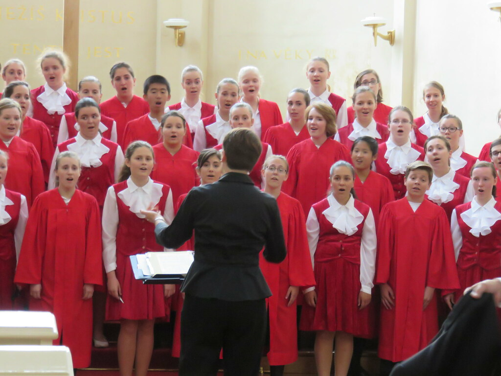 St. Louis Children's Choirs performs with the Jitro Children's Choir in the Church of the Holy Saviour in Prague, Czech Republic