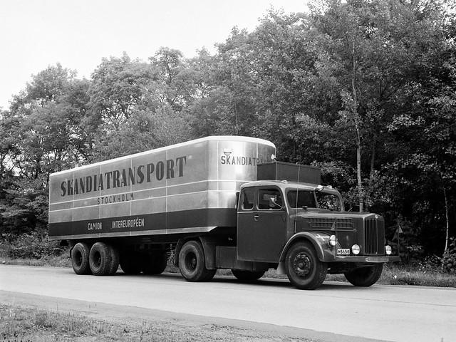 Седельный тягач Scania-Vabis L21. 1949 год
