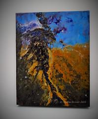 Eagle Galaxy Encaustic Wax Painting