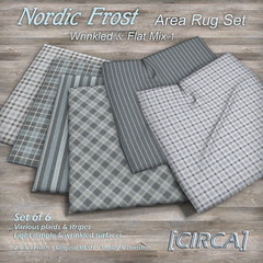 """@ The Project Se7en - [CIRCA] - """"Nordic Frost"""" - Area Rug Set - Wrinkled & Flat Mix 1"""