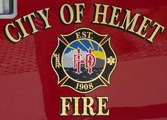 Hemet CA Fire Dept - seal