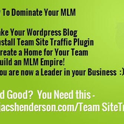 Lots of info at http://jacshenderson.com/TeamSiteTraffic #follow4follow...