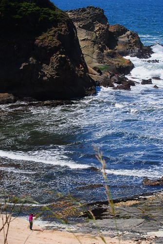 Looking down on the Beach