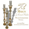 Tres Maison Wood Candlestick Natural
