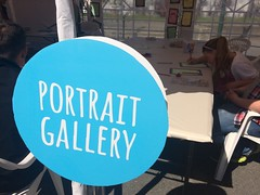 Portrait gallery sign