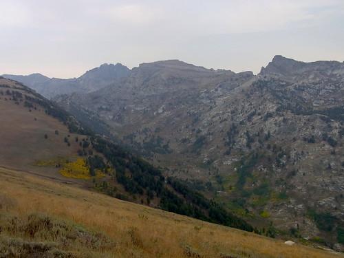 autumn mountains landscape smoke