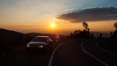 sunset car volvo carro backlit s80 d5