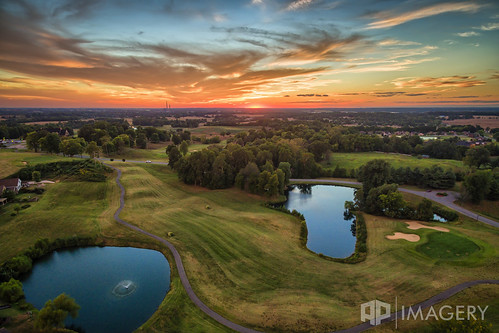 sunset lake clouds landscape pond kentucky ky aerial golfcourse summit owensboro p3p pearlclub daviessco