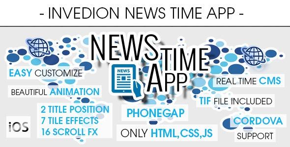 CodeCanyon News Time App With CMS - iOS