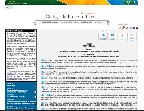 Consulta Código de Processo Civil