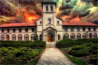 Oberlin Ohio ~ Bosworth Hall and Fairchild Chapel, Oberlin College ~ Historic Building