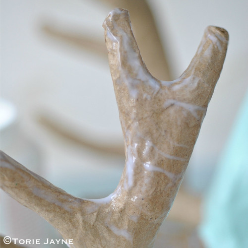 DIY Glittered antler stag head tutorial